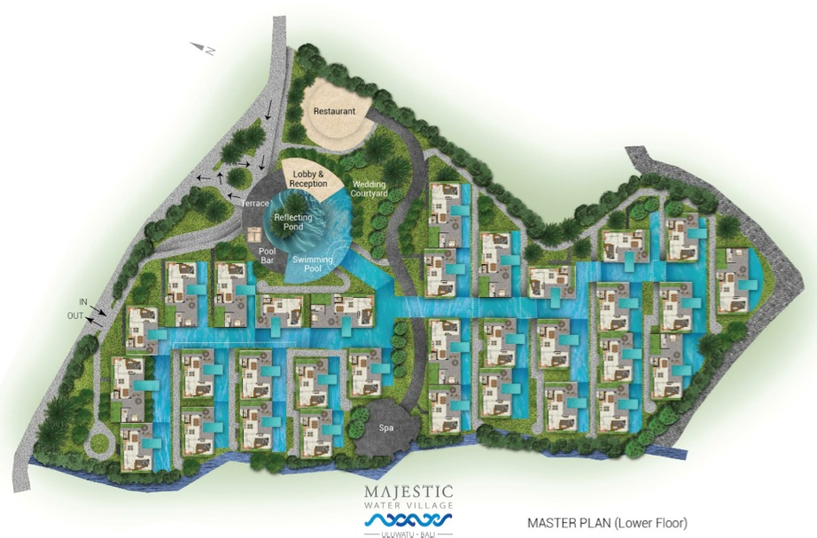 Site Plan Majestic Water Village