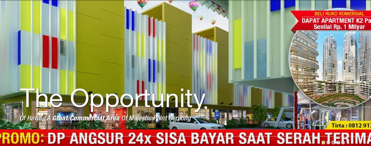Penawaran Commercial Area di MPS, bonus 1 unit Apartemen K2 Park