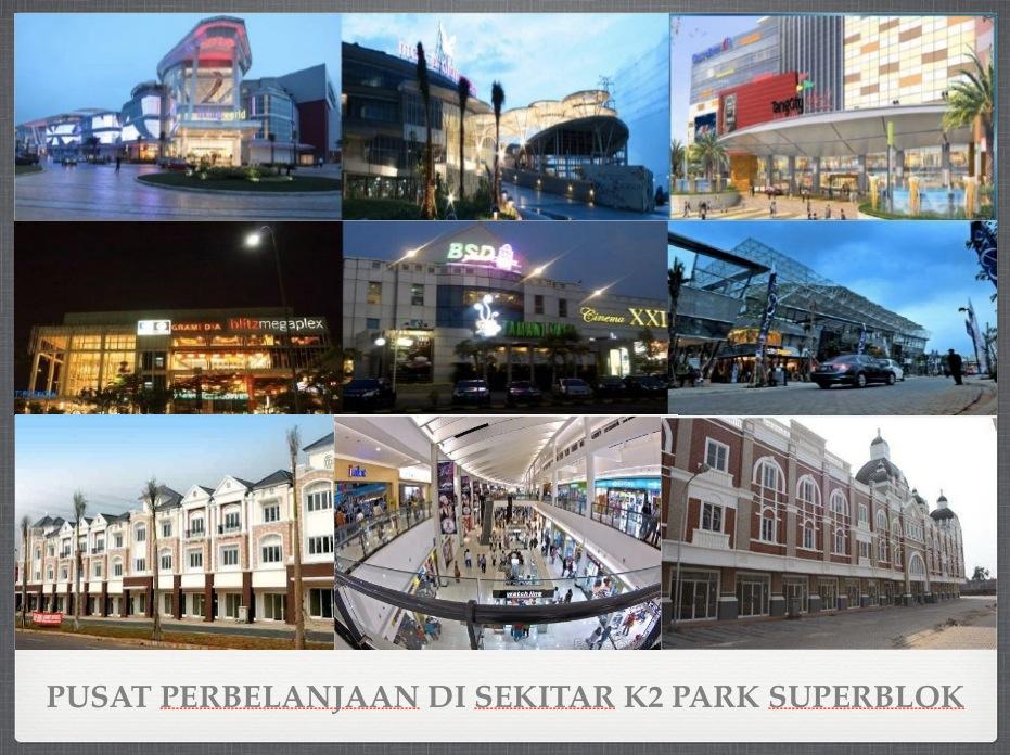 Mall di sekitar K2 Park Superblok