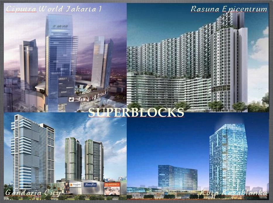 Beberapa superblok yang ada di Jakarta