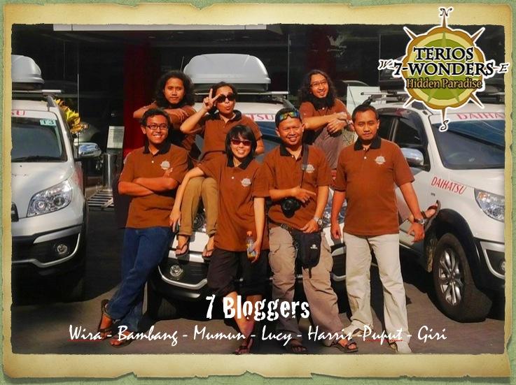 7 Blogger yang bergabung dalam Tim Terios 7 Wonders : Hidden Paradise (Credits)