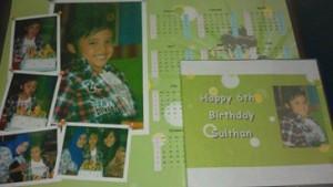 Kalender dan DVD dokumentasi ulang tahun seorang anak teman :D