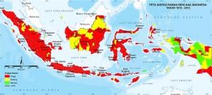 Potensi bencana di Indonesia (Sumber BNPB)