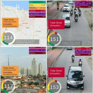 Laporan kualitas udara Jakarta, Sumber IG Filter.Sakura