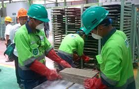 Pengolahan tailing emas Antam menjadi bahan bangunan (Sumber Mongabay)