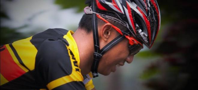 Atlet balap sepeda putra dari Jambi #PONJabar2016 #PONXIX