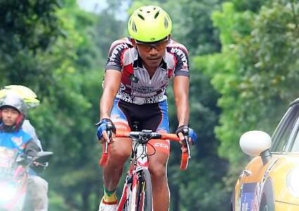 Atlet balap sepeda putra dari Kalbar #PONJabar2016 #PONXIX