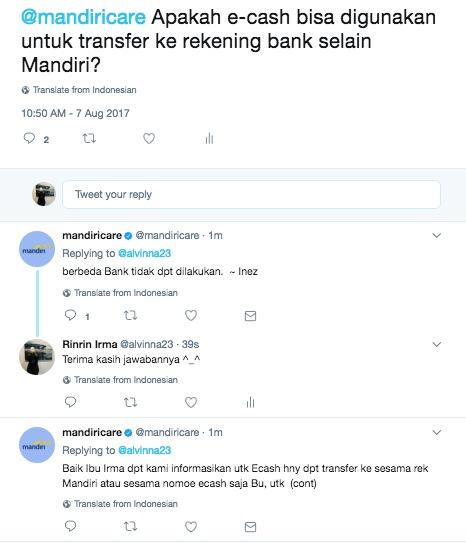 mandiri twit
