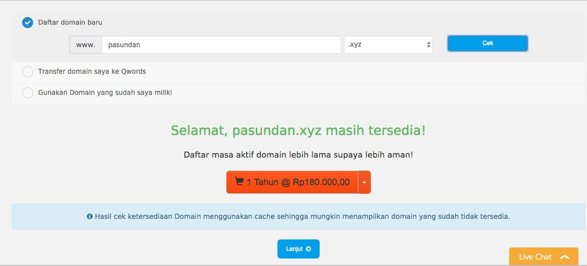 Promo Domain Murah Qwords
