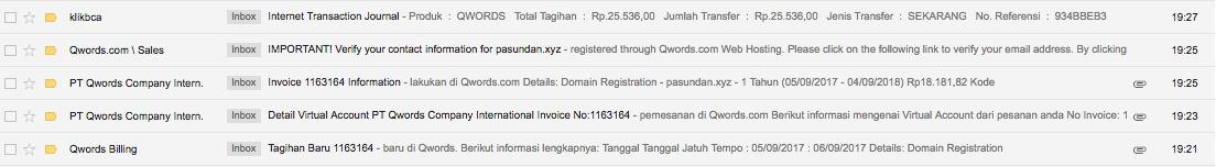 Email dari Qwords
